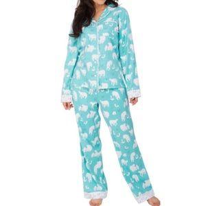 MUNKI MUNKI Polar Bear & Fox Flannel Pajamas PJ's